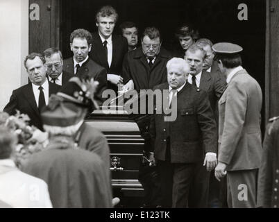 Franz Josef Strauss assiste aux funérailles de l'épouse Banque D'Images