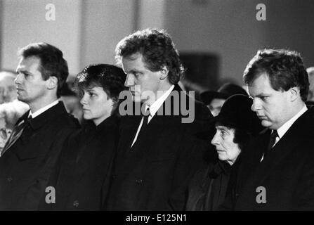 Funérailles de Franz Josef Strauss Banque D'Images