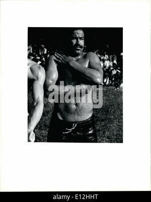 24 février 2012 - S/C Homme wrestling II Banque D'Images