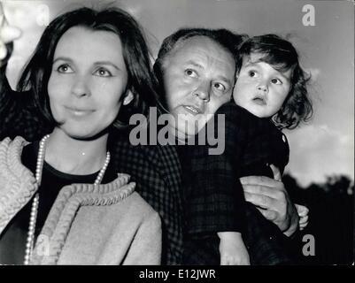 24 février 2012 - Rome, mai 1963 - Rod Steiger l'acteur américain connu pour ses rôles dans ''Al chapons'' sur le Banque D'Images