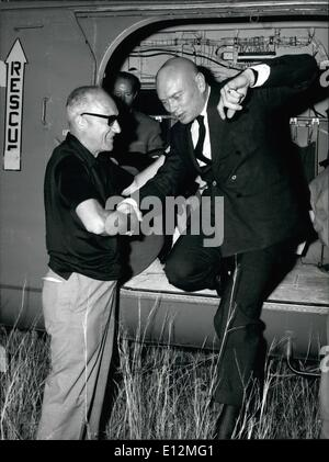24 février 2012 - Rome, août 1966 - festival du film de Taormine, terminé et les Prix ''David Di Donatello'' ont Banque D'Images