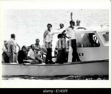 Avril 04, 2012 - un bateau chargé de réfugiés cubains arrivant à Key West.