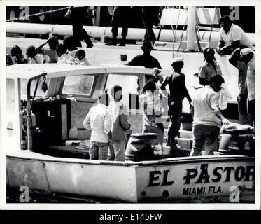 Avril 04, 2012 - les réfugiés cubains arrivant à Key West en Floride