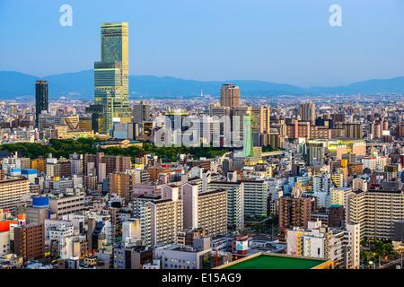 Osaka, Japon à Abeno Shinsekai et District. Banque D'Images
