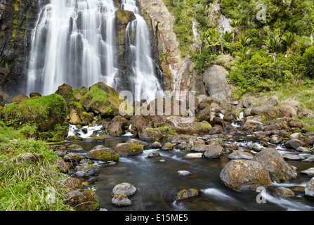 Marokopa Falls, North Island, New Zealand Banque D'Images