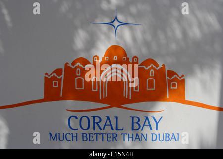 Coral Bay Resort, Charm el-Cheikh, Sinaï, Égypte Banque D'Images