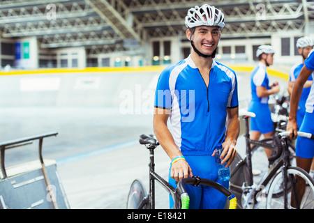Portrait de la voie cycliste à velo Banque D'Images