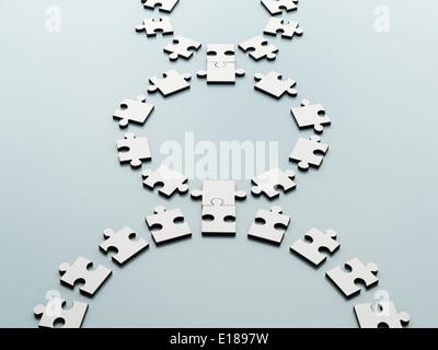 Pièces de puzzle connecté Banque D'Images