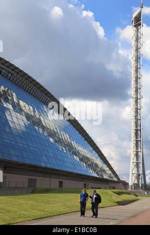Royaume-uni, Ecosse, Glasgow, Glasgow Science Centre, Tour, Banque D'Images