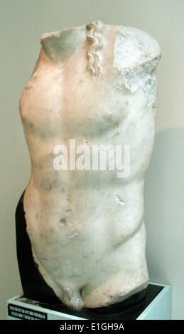 Torse de Dionysos. Copie romaine d'un original, Banque D'Images