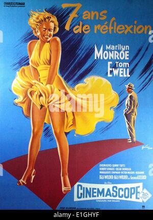 Les sept ans démangent une comédie romantique 1955 film avec Marilyn Monroe et Tom Ewell. Banque D'Images
