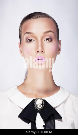 Business Woman portrait strictes - jeune femme confiante noble arrogant Banque D'Images