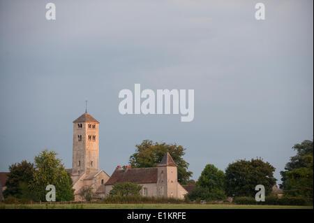 L'église Saint-Martin de Chapaize en Bourgogne Banque D'Images
