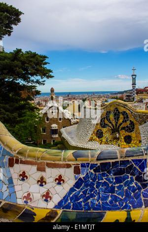 Le Parc Guell de Barcelone Banque D'Images