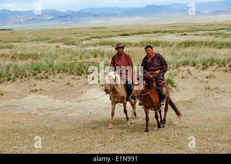 China, Taiwan, Nomad dans la steppe Banque D'Images