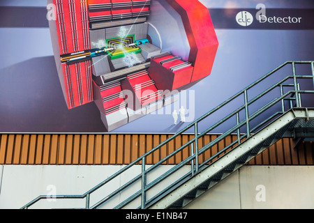 Résumé Vue d'un détecteur proposé à clic, au CERN, Genève Banque D'Images