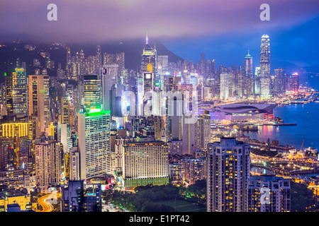 Hong Kong, Chine City Skyline Banque D'Images