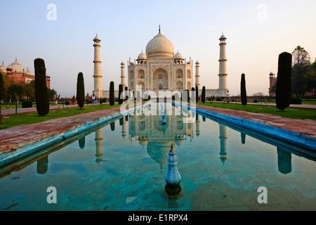 L'Inde, Uttar Pradesh State, Agra, Taj Mahal, Unesco world heritage Banque D'Images