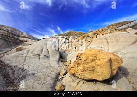 L'érosion et de formations rocheuses dans les Badlands, Drumheller, Alberta, Canada Banque D'Images