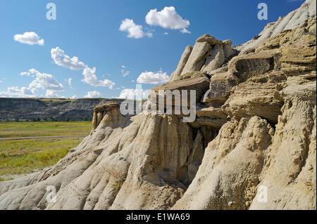 Formations de Badlands, le long de la rivière Red Deer, Alberta, Canada Banque D'Images