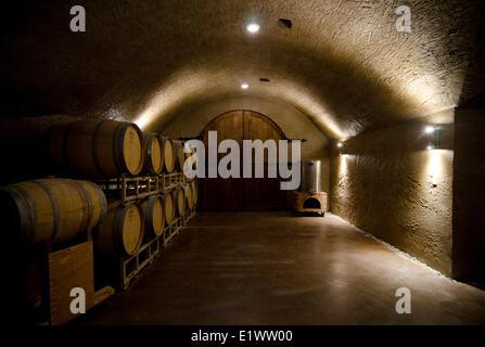 Les grottes, les sept Pierres Winery, à Cawston, en Colombie-Britannique, Canada. Banque D'Images