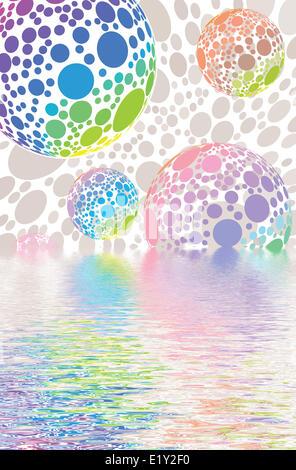 Boules boules disco Banque D'Images