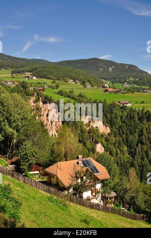 Beaumont, le Tyrol du Sud, Italie Banque D'Images