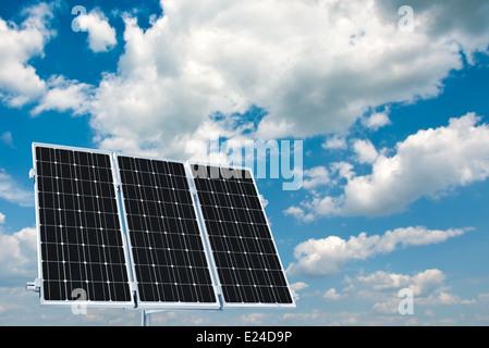 Home power plant à l'aide d'énergie solaire renouvelable Banque D'Images