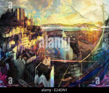 FINE ART: le port de Torquay - Devon, Royaume-Uni Banque D'Images