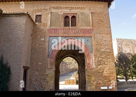 Torre del Vino (Vin). Alhambra, Grenade. Andalousie, Espagne Banque D'Images