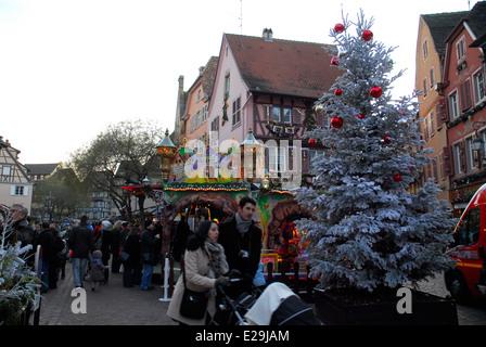 Marché de Noël de Colmar en Alsace, France Banque D'Images