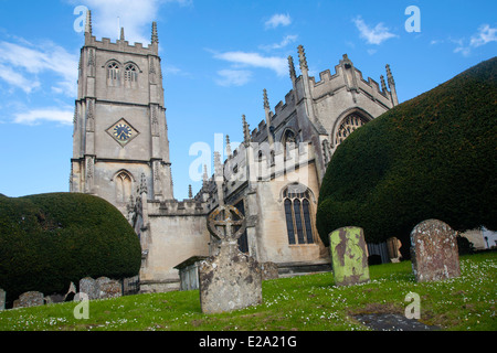 L'église St Mary vierge et pierres tombales Calne, Wiltshire, Angleterre Banque D'Images
