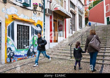 Portugal, Lisbonne, la Calcada do Duque Banque D'Images