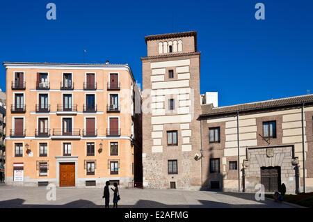 Espagne, Madrid, Plaza de la Villa, Casa de Cisneros, château construit en 1537 par Benito Jiménez de Cisneros, Banque D'Images