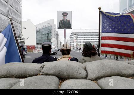 Allemagne, Berlin, Mitte, Checkpoint Charlie (ou Checkpoint C) était le nom donné par les alliés occidentaux de Banque D'Images