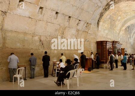 Israël, Jérusalem, ville sainte, de la vieille ville inscrite au Patrimoine Mondial de l'UNESCO, couvrait une partie Banque D'Images