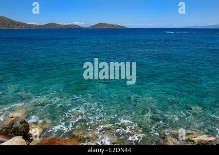 La Grèce La Crète Agios Nikolaos Elounda région coast Banque D'Images