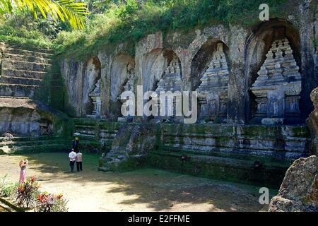 L'INDONÉSIE, Bali, Ubud, près de Tampaksiring, Temple de Gunung Kawi Banque D'Images
