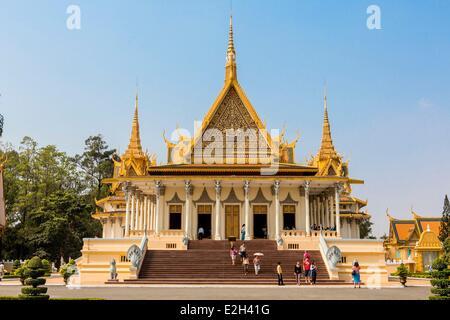 Cambodge Phnom Penh Palais Royal, Pagode d'argent (Wat Preah Keo en khmer) construit par le Roi Norodom en 1892 Banque D'Images