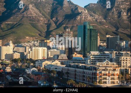 Centre-ville du Cap avec les maisons, Cape Town, Western Cape, Afrique du Sud Banque D'Images