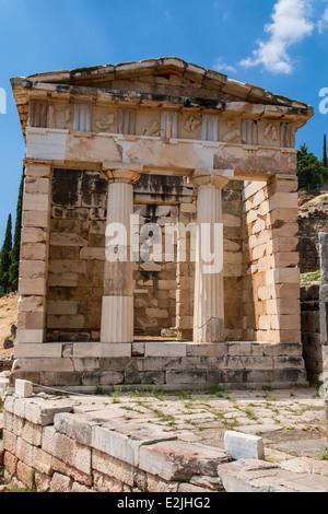 Du Trésor d'Athènes à Delphes, Grèce. Banque D'Images