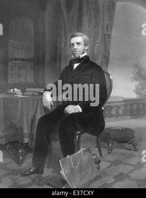 Oliver Wendell Holmes, M., 1809 - 1894, un médecin américain, poète, professeur, conférencier et auteur, Banque D'Images