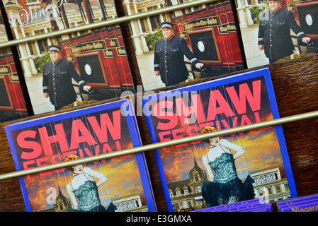 Shaw Festival Guides, brochures, Niagara-on-the-Lake, Ontario, Canada Banque D'Images
