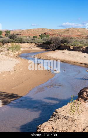 Paria River dans le désert de l'Utah du sud.