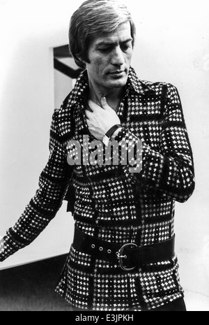 Du style des années 1970,modèle pendant une séance photo Banque D'Images