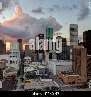 Le centre-ville de Ville, Houston, Texas, États-Unis d'Amérique