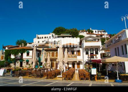 Bar café terrasses, Barbaros street près du château et rue des bars, province de Mugla, Marmaris, Turquie, Asie Banque D'Images