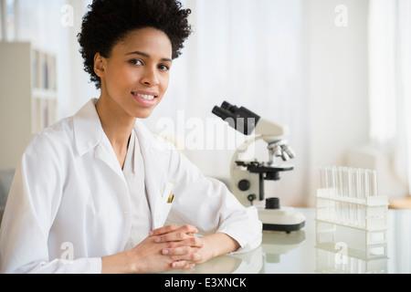 Black scientist in lab