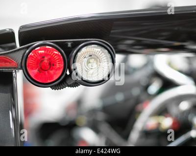 Détail des feux arrière Supercar, Close up