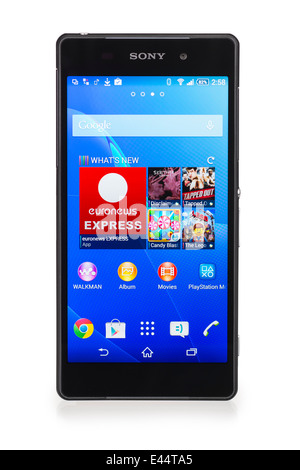 Sony Xperia Z2 Smartphone Android Mobile Phone Banque D'Images